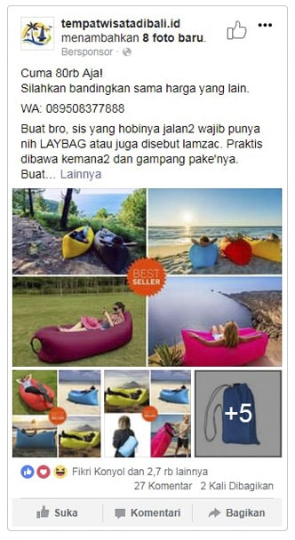 Facebook Instagram Ads Iklan Interaksi